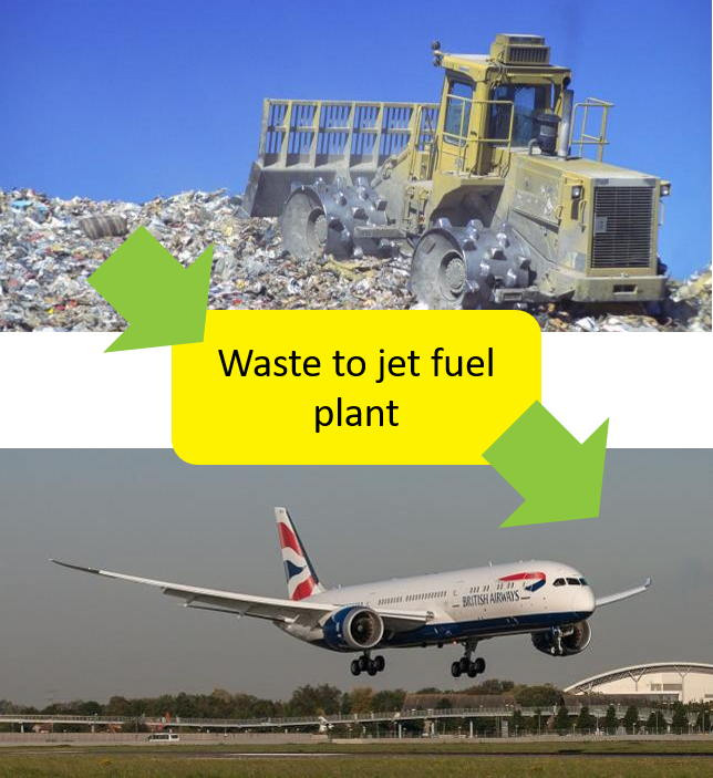 jetfuel from rubbish
